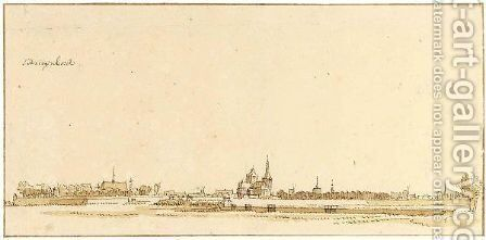 View Of 'S-Hertogenbosch by Abraham De Haen II - Reproduction Oil Painting