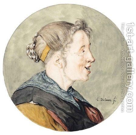 Caricature Head Of A Woman, In Profile by Cornelis Dusart - Reproduction Oil Painting
