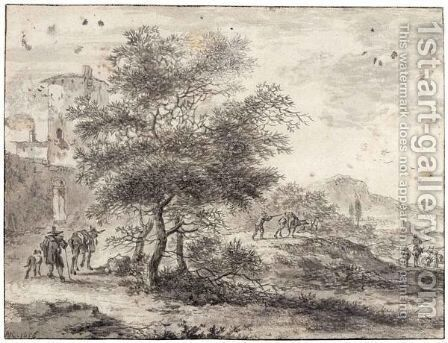 An Italianate Landscape by Adriaen Van Der Kabel - Reproduction Oil Painting