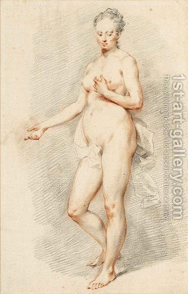 Standing Female Nude by Dutch School - Reproduction Oil Painting