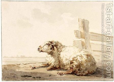 A Sheep by Jacob van Strij - Reproduction Oil Painting