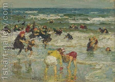 In The Surf 2 by Edward Henry Potthast - Reproduction Oil Painting
