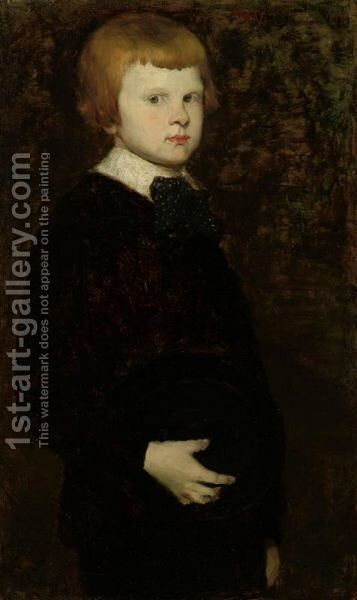Portait Of A Young Boy (Son Of Karl Theodor Von Piloty) by William Merritt Chase - Reproduction Oil Painting