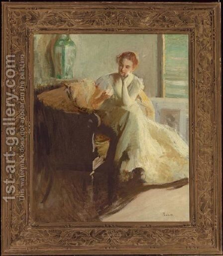 Contemplation by Edmund Charles Tarbell - Reproduction Oil Painting