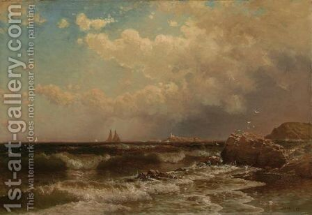 In Gloucester Harbor by Alfred Thompson Bricher - Reproduction Oil Painting
