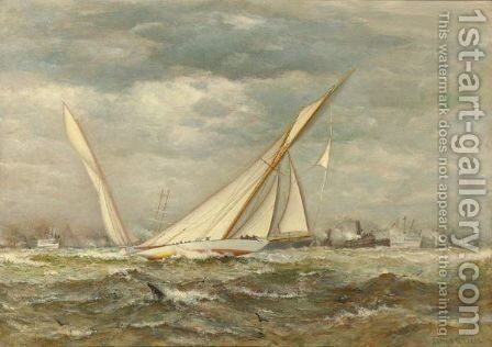 The Yacht Race by James Gale Tyler - Reproduction Oil Painting