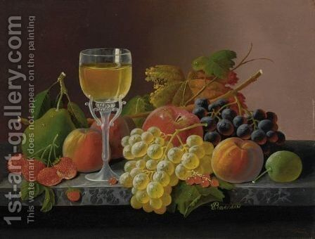 Still Life With Fruit 8 by Severin Roesen - Reproduction Oil Painting
