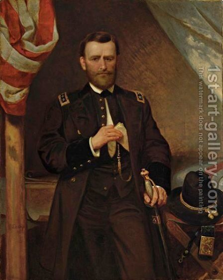 General Ulysses S. Grant In His Tent by Emanuel Gottlieb Leutze - Reproduction Oil Painting