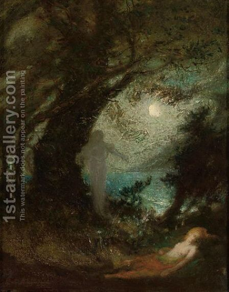 The Spirit Of The Night by Elliott Daingerfield - Reproduction Oil Painting