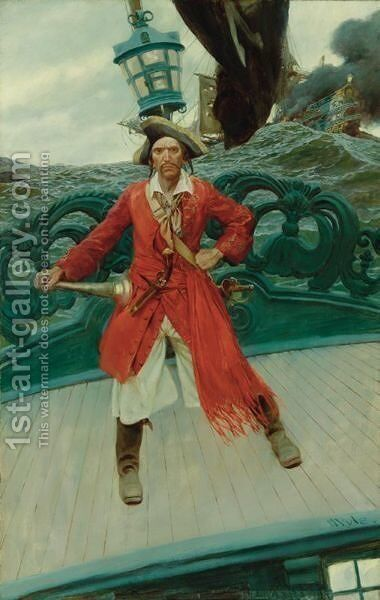 Captain Keitt by Howard Pyle - Reproduction Oil Painting