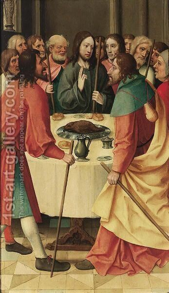 The Last Supper by Belgian Unknown Master - Reproduction Oil Painting