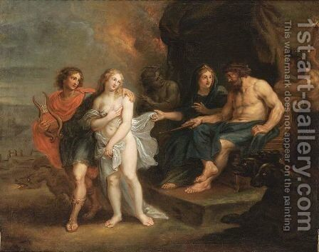Orpheus Searching Eurydice In The Underworld (Met. 10 11-63) by Antwerp School - Reproduction Oil Painting