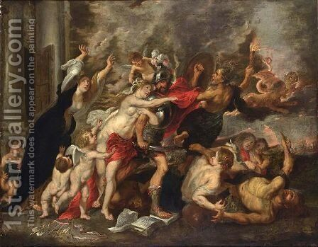 An Allegory Of War And Peace by (after) Sir Peter Paul Rubens - Reproduction Oil Painting