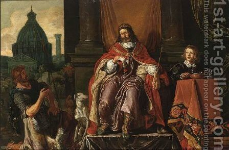 David Gives Uriah A Letter For Joab (2. Samuel 117ff) by (after) Pieter Pietersz. Lastman - Reproduction Oil Painting