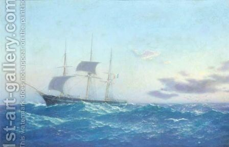 On High Seas by Emilios Prosalentis - Reproduction Oil Painting