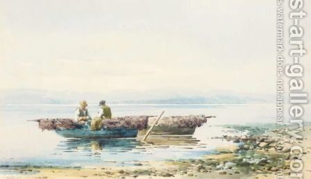 Mending The Nets by Angelos Giallina - Reproduction Oil Painting
