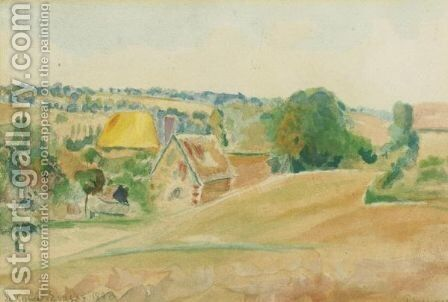 La Cavia, Eragny by Camille Pissarro - Reproduction Oil Painting