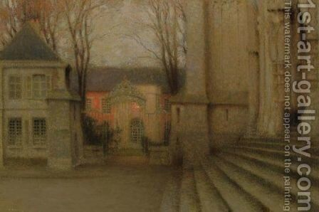 L'Eveche, Chartres by Henri Eugene Augustin Le Sidaner - Reproduction Oil Painting