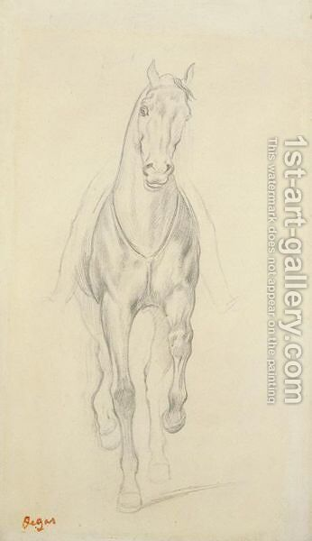 Cheval De Selle by Edgar Degas - Reproduction Oil Painting