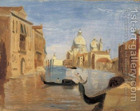 Vue De Venise by Jean-Baptiste-Camille Corot - Reproduction Oil Painting