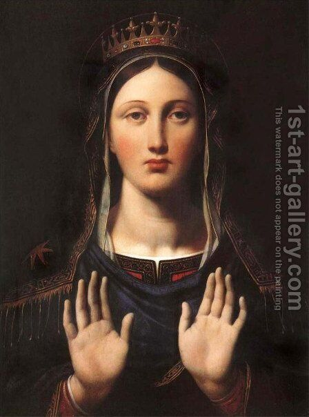 The Virgin With The Crown by Jean Auguste Dominique Ingres - Reproduction Oil Painting