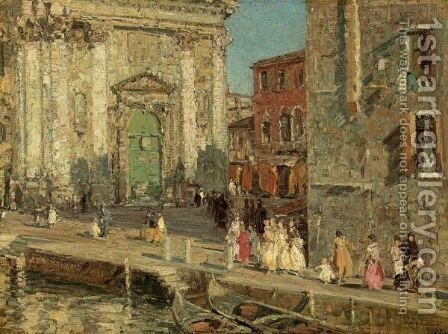 Campo San Barnaba by Emma Ciardi - Reproduction Oil Painting