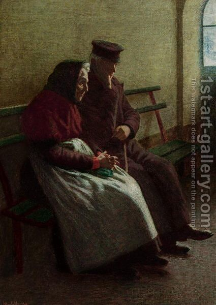 Tempi Lontani by Angelo Morbelli - Reproduction Oil Painting