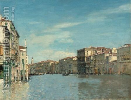 On The Grand Canal, Venice by Alberto Pasini - Reproduction Oil Painting