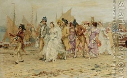 The Wedding Procession by Frederick Hendrik Kaemmerer - Reproduction Oil Painting