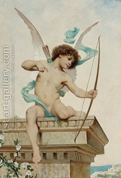 Cupid by Jacques-Clement Wagrez - Reproduction Oil Painting