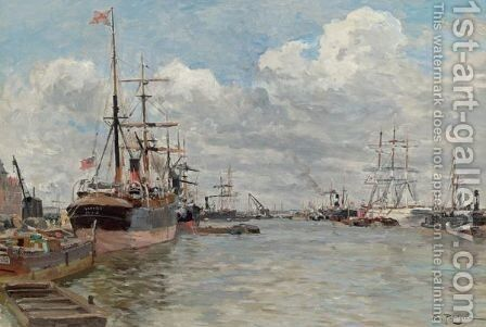 Harbor View 2 by Edmond Marie Petitjean - Reproduction Oil Painting