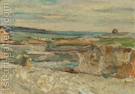 Northern Landscape by Abram Efimovich Arkhipov - Reproduction Oil Painting