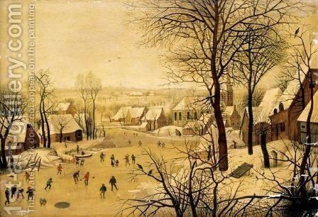 The Bird Trap by (after) Pieter The Younger Brueghel - Reproduction Oil Painting