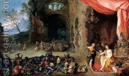Venus In The Forge Of Vulcan by (after) Jan The Elder Brueghel - Reproduction Oil Painting