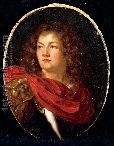 Portrait Of A Gentleman, Head And Shoulders, Wearing Classical Armour by Arie de Vois - Reproduction Oil Painting