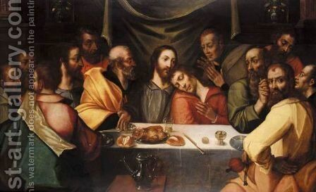 The last supper by Antwerp School - Reproduction Oil Painting