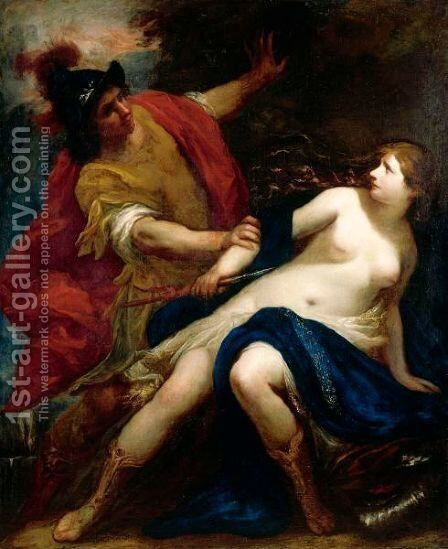 Tarquin And Lucretia by Simone Pignoni - Reproduction Oil Painting