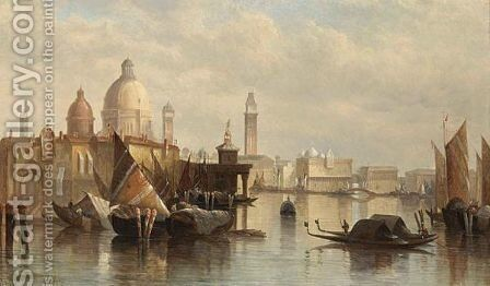 A View Of Venice 2 by James Holland - Reproduction Oil Painting