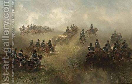 A Military Exercise by Charles Rochussen - Reproduction Oil Painting