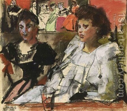 Cafe Chantant by Isaac Israels - Reproduction Oil Painting