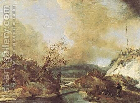 Dune Landscape 1645-50 by Philips Wouwerman - Reproduction Oil Painting