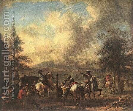 Riding School by Philips Wouwerman - Reproduction Oil Painting