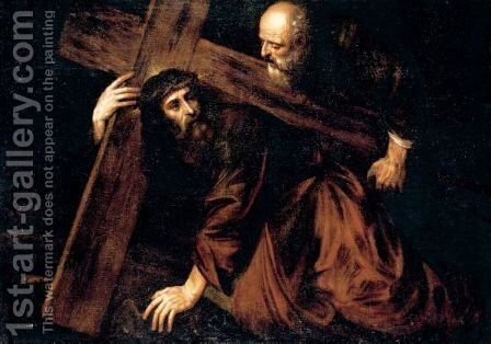 Christ Carrying The Cross by (after) Tiziano Vecellio (Titian) - Reproduction Oil Painting