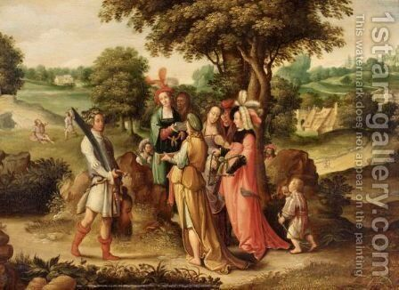 The Triumph Of David by (after) Lucas Van Leyden - Reproduction Oil Painting