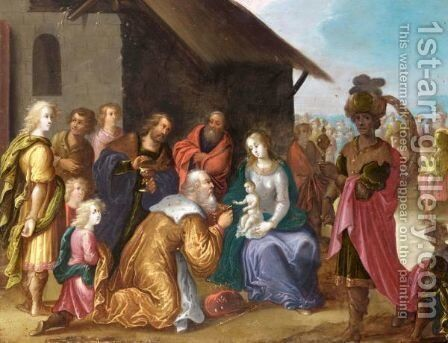 The Adoration Of The Magi by (after) Pieter Lisaert IV - Reproduction Oil Painting
