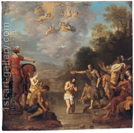 The Baptism Of Christ by Daniel Vertangen - Reproduction Oil Painting