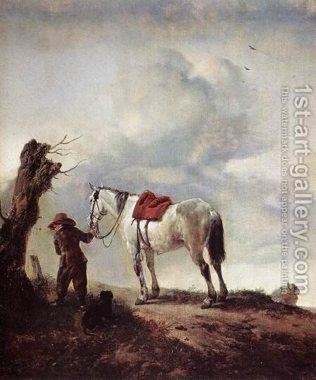 The White Horse by Philips Wouwerman - Reproduction Oil Painting