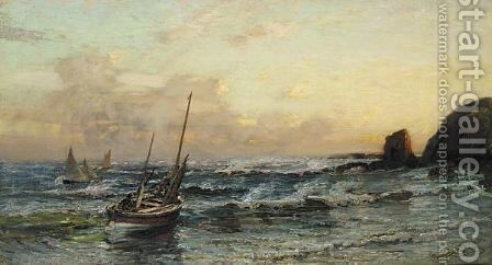 Coldingham Bay by James Campbell Noble - Reproduction Oil Painting