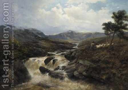 Mountain Torrent by James Docharty - Reproduction Oil Painting