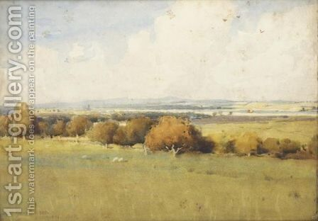 A Dumfriesshire Meadow, Kirkconnel by James Paterson - Reproduction Oil Painting